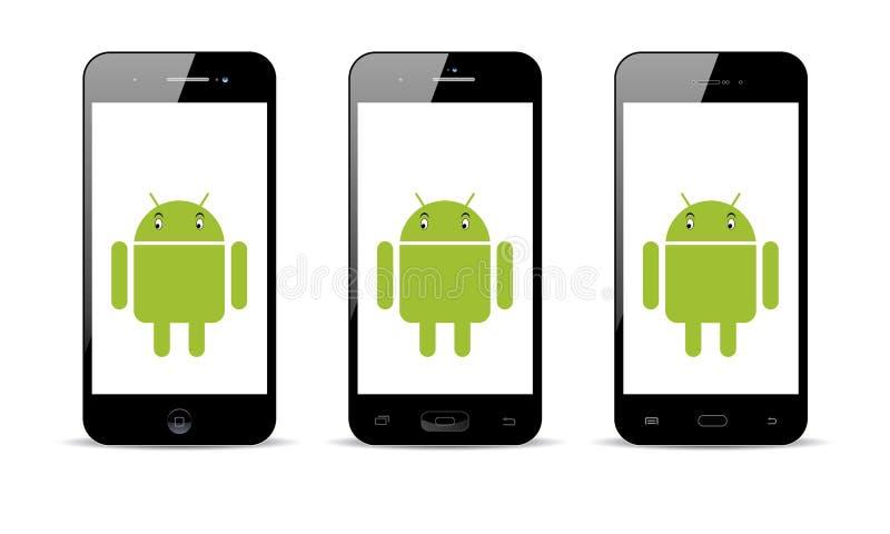 Telefone celular de Android ilustração do vetor