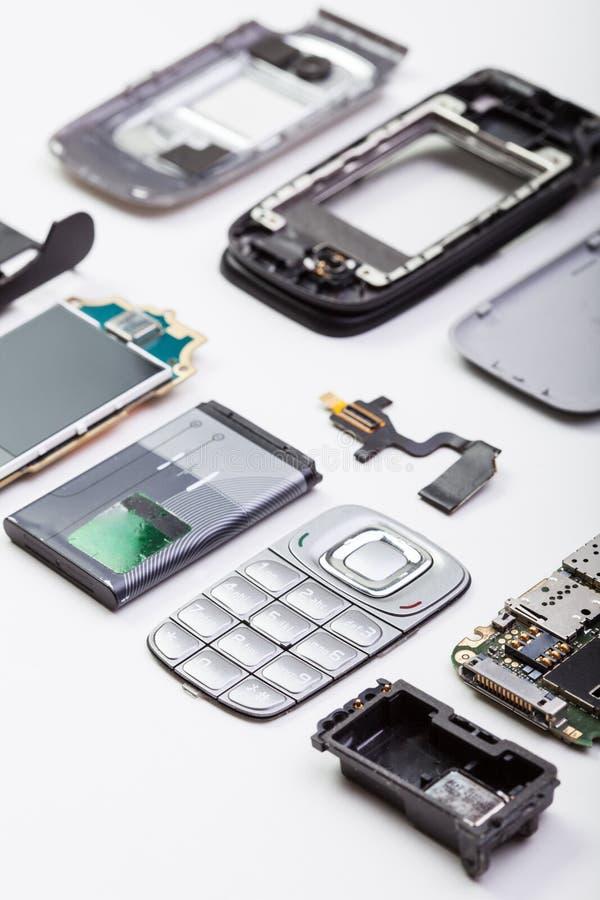 Telefone celular desmontado imagem de stock
