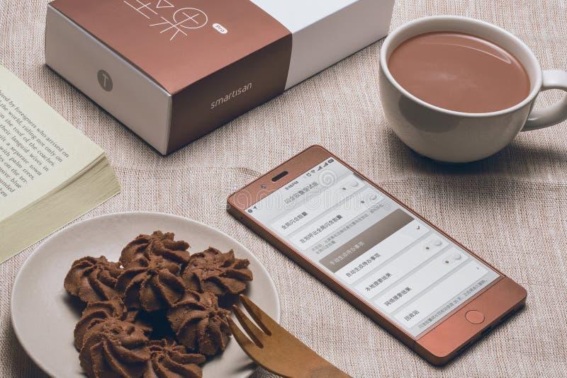 Telefone celular do chocolate