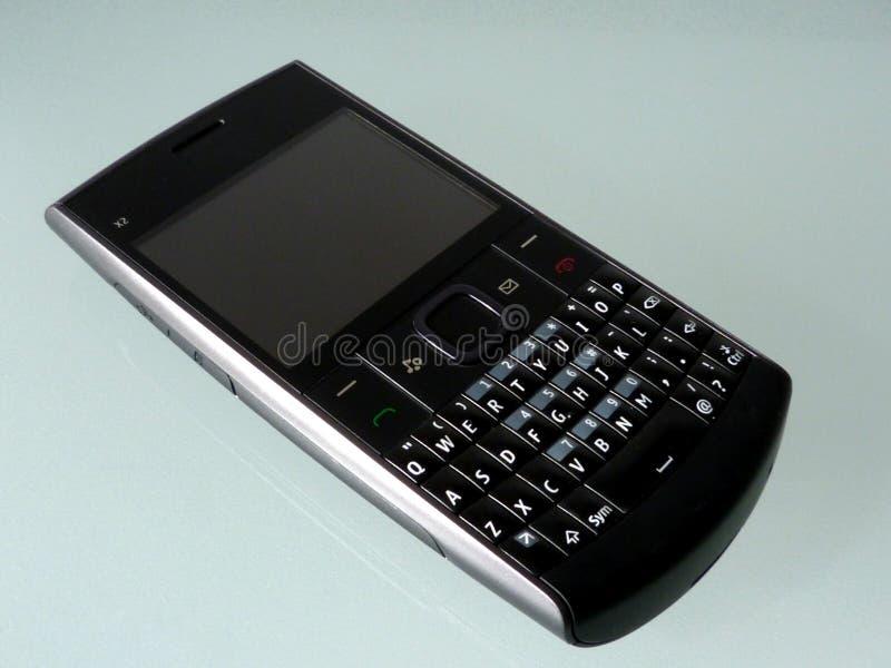 Telefone celular do estilo do vintage ou fim preto velho do telefone celular acima foto de stock royalty free