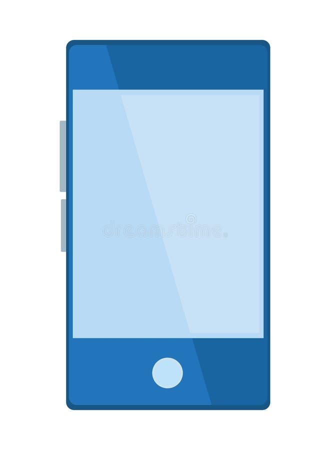 Telefone celular em desenhos animados vazios do ícone ilustração stock