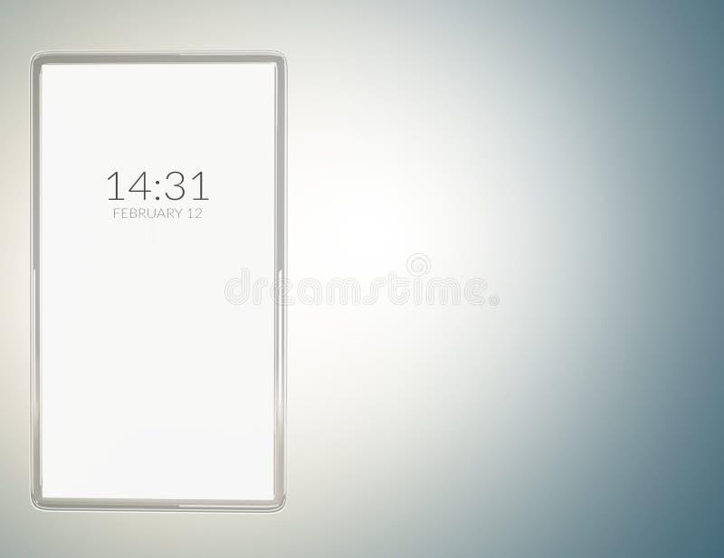 Telefone celular transparente translúcido 3d-illustration ilustração royalty free