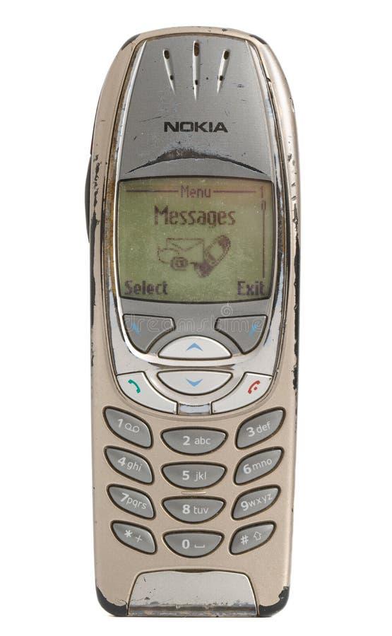 Telefone celular velho de Nokia fotos de stock royalty free