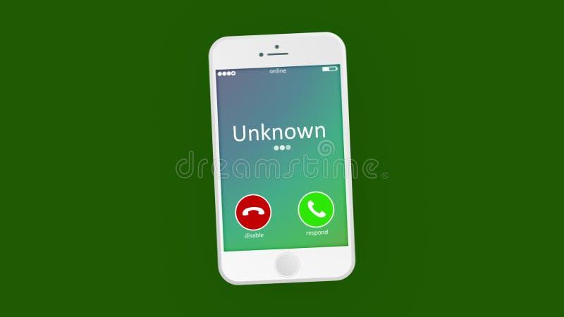Telefone chamada de perturbação ilustração stock