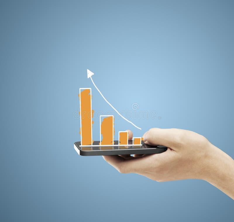 Telefone com gráfico imagem de stock royalty free