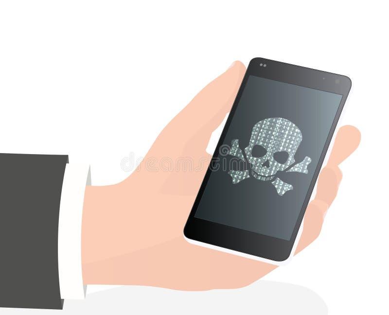 Telefone cortado ilustração stock
