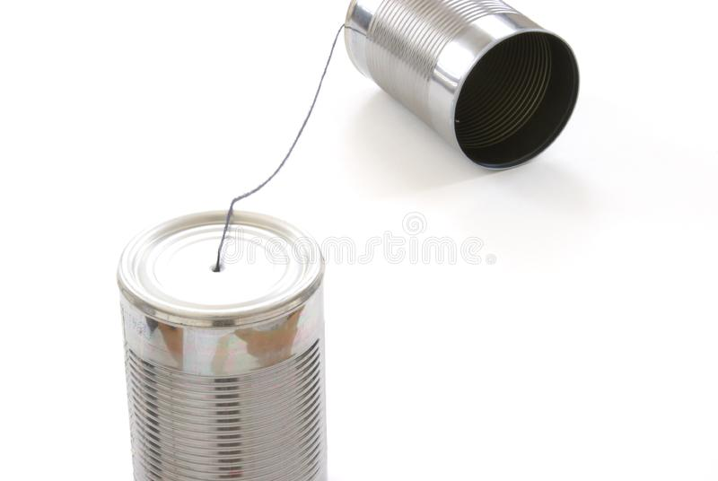 Tin Can Telephone imagem de stock