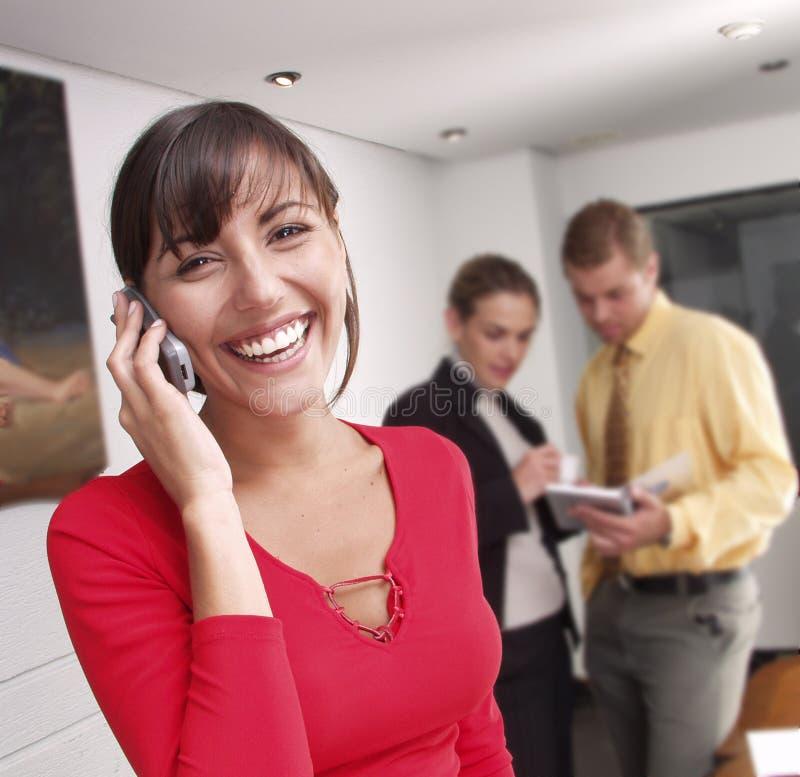 Telefone da mulher de negócios. imagem de stock