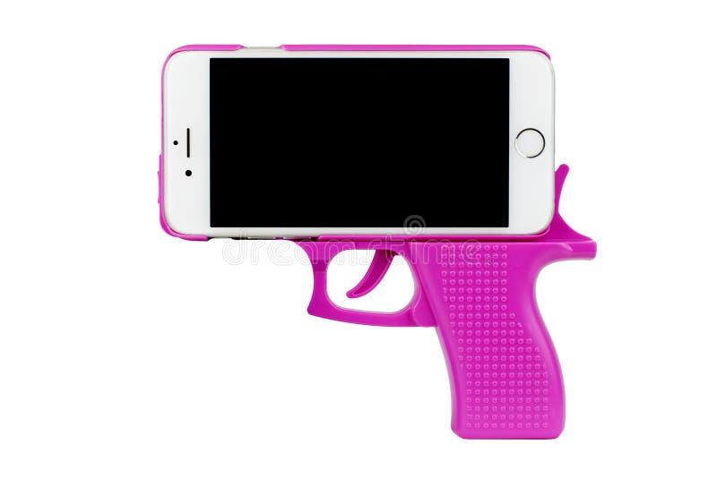 Download Telefone da pistola foto de stock. Imagem de tela, pistola - 80101928