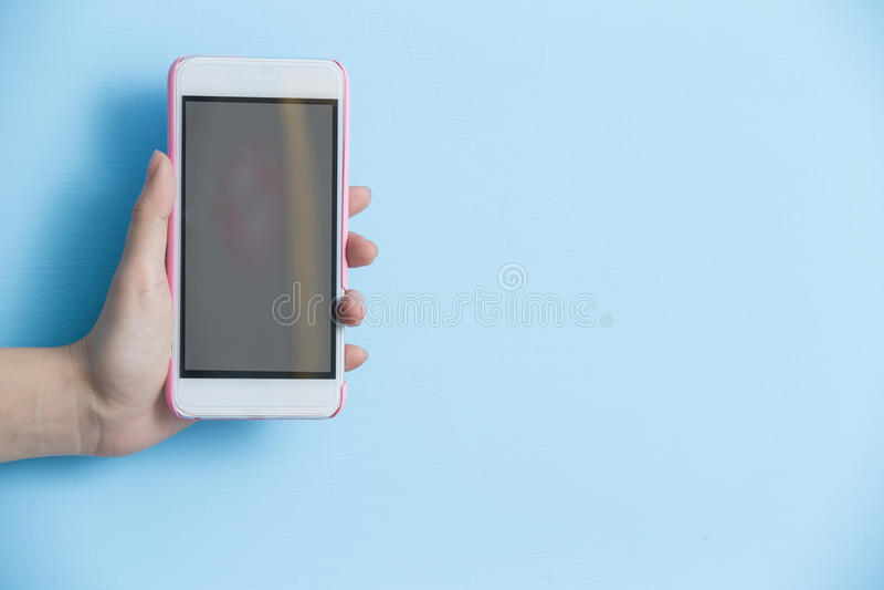 Telefone da tomada da mão imagens de stock