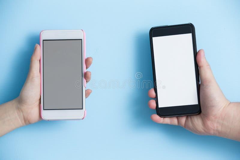 Telefone da tomada da mão fotografia de stock