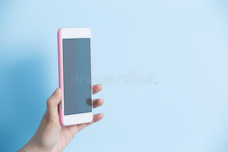 Telefone da tomada da mão fotos de stock