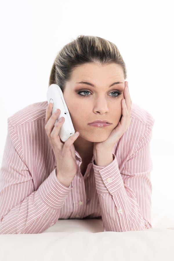 Telefone da tristeza imagens de stock