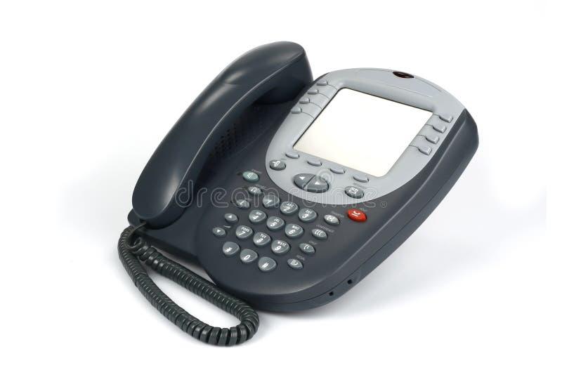 Telefone de Digitas VoIP (isolado no branco) foto de stock royalty free
