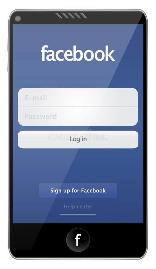 Telefone de Facebook ilustração royalty free