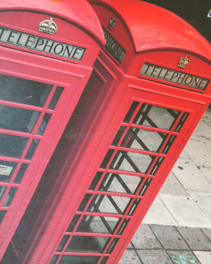 Telefone de Londres fotos de stock royalty free