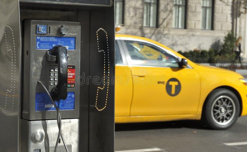 Telefone de pagamento em New York fotografia de stock