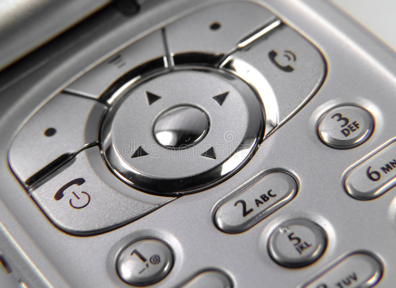 Telefone de pilha foto de stock