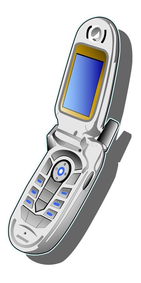 Telefone de pilha azul ilustração stock