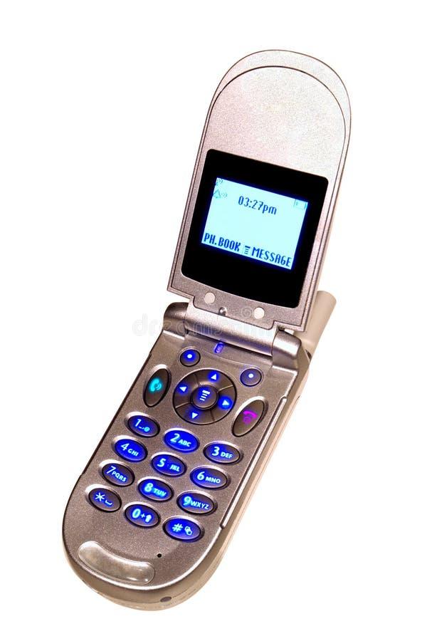Telefone de pilha da aleta do escudo dos moluscos fotos de stock