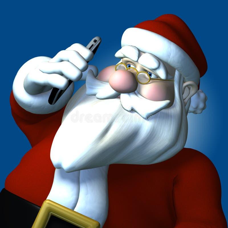 Telefone de pilha de Santa ilustração do vetor