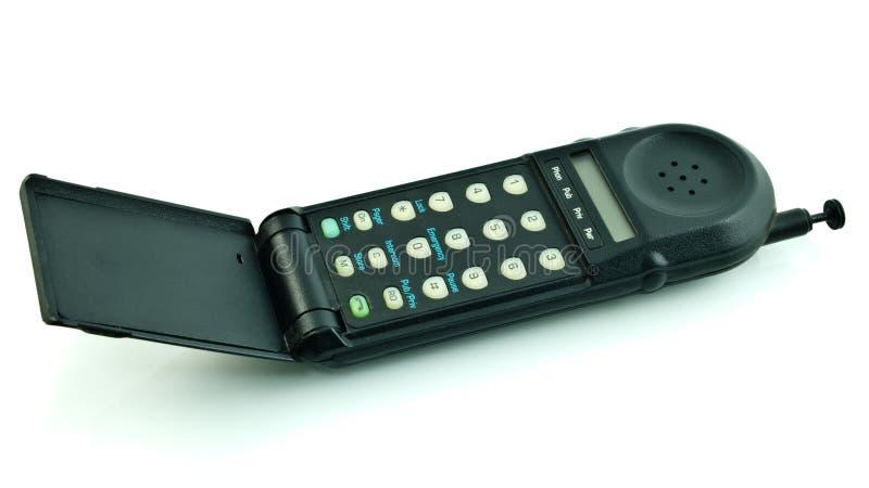 Telefone de pilha do estilo velho foto de stock