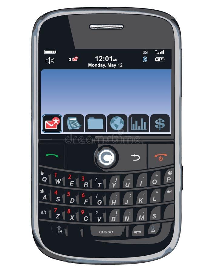 Telefone De Pilha Do Vetor/PDA/amora-preta Imagem Editorial