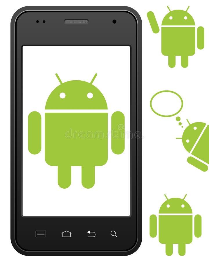Telefone de pilha genérico do Android ilustração royalty free
