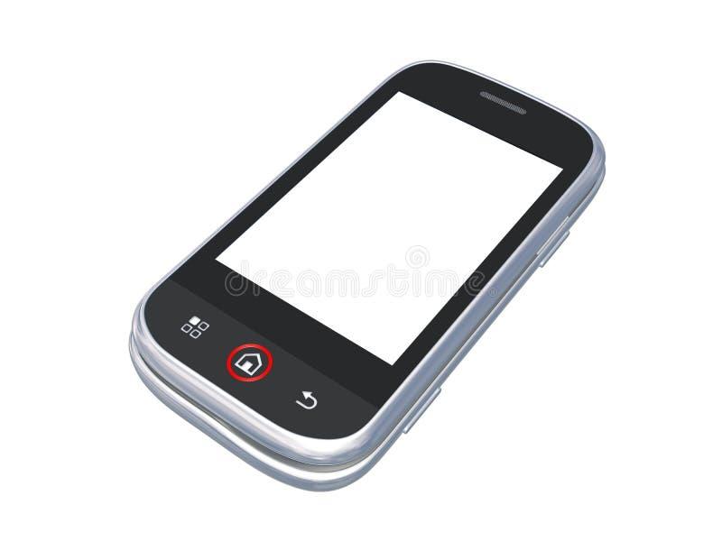 Telefone de pilha isolado no branco com trajeto de grampeamento ilustração do vetor