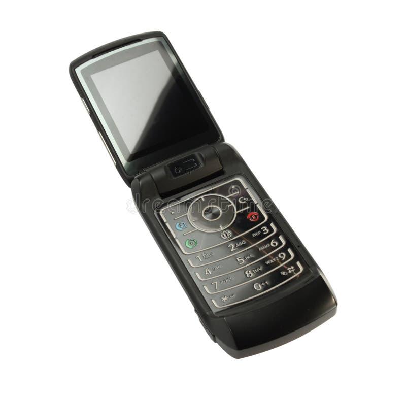 Telefone de pilha preto isolado fotos de stock