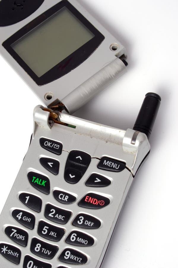Telefone de pilha quebrado imagens de stock