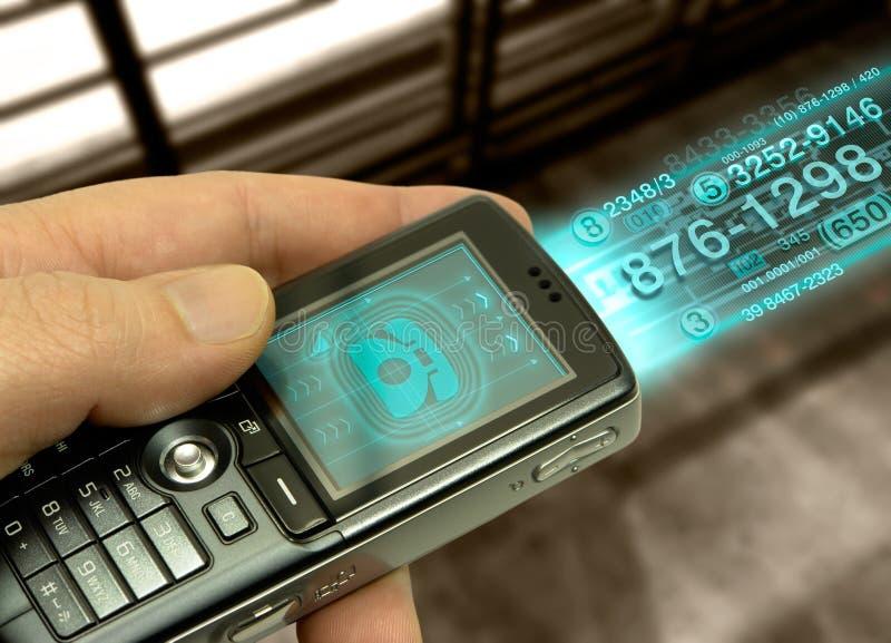 Telefone de pilha (tecnologia do fotografia de stock royalty free