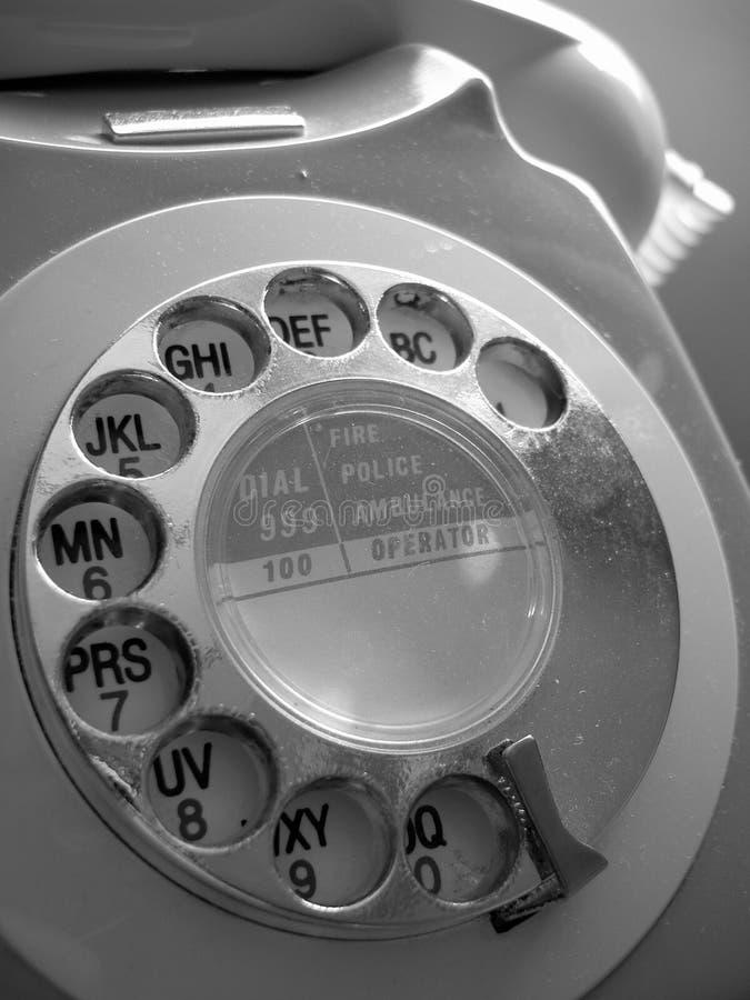 Telefone de seletor foto de stock