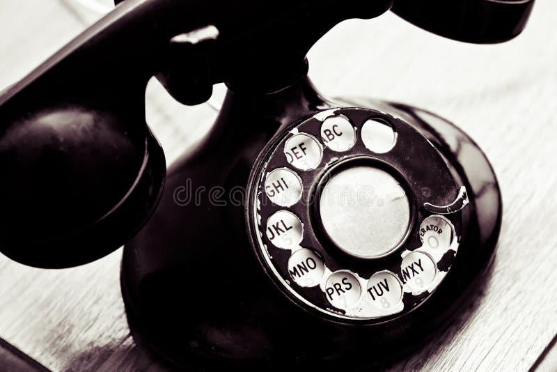 Telefone de seletor giratório do vintage imagem de stock