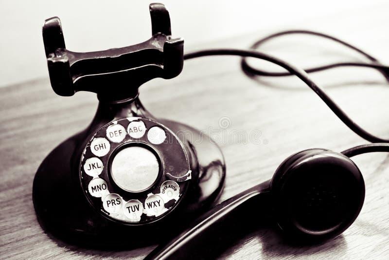Telefone de seletor giratório do vintage imagens de stock