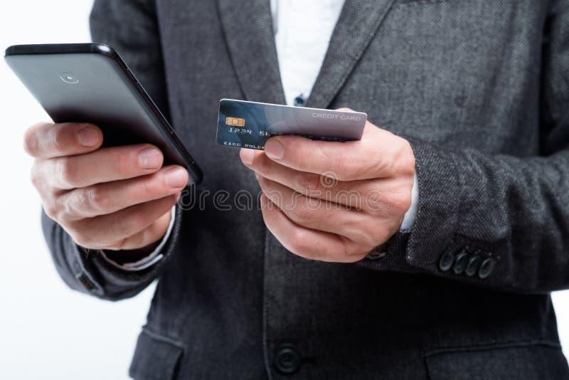 Telefone digital do cartão do app do pagamento do nfc móvel da carteira imagens de stock