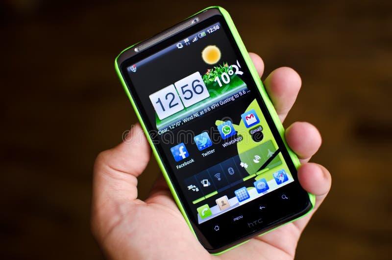 Telefone do Android imagem de stock royalty free