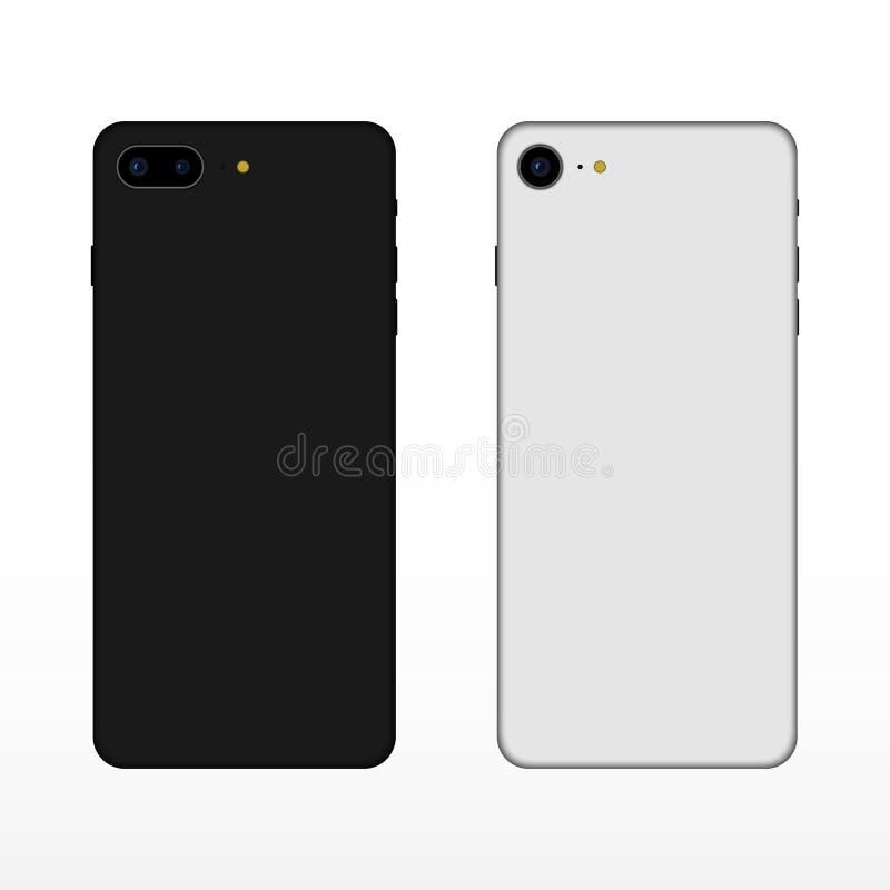 Telefone do caso Modelo do caso ilustração stock