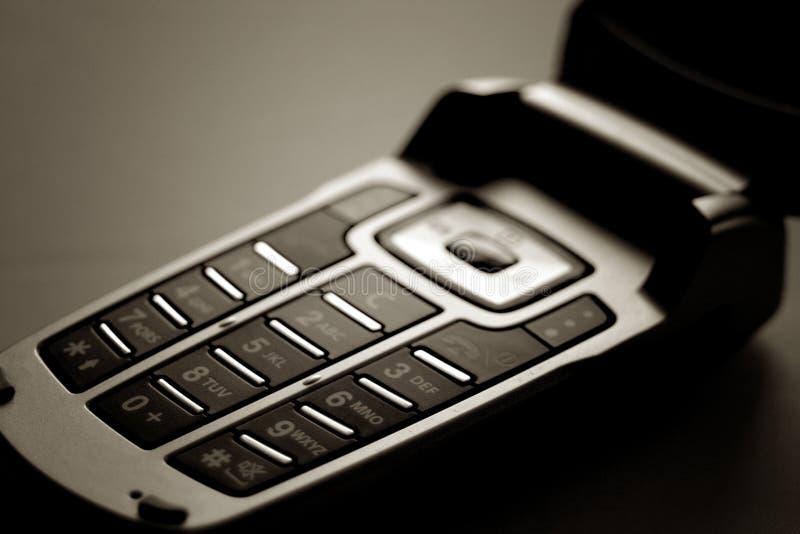 Telefone do móbil/pilha imagem de stock