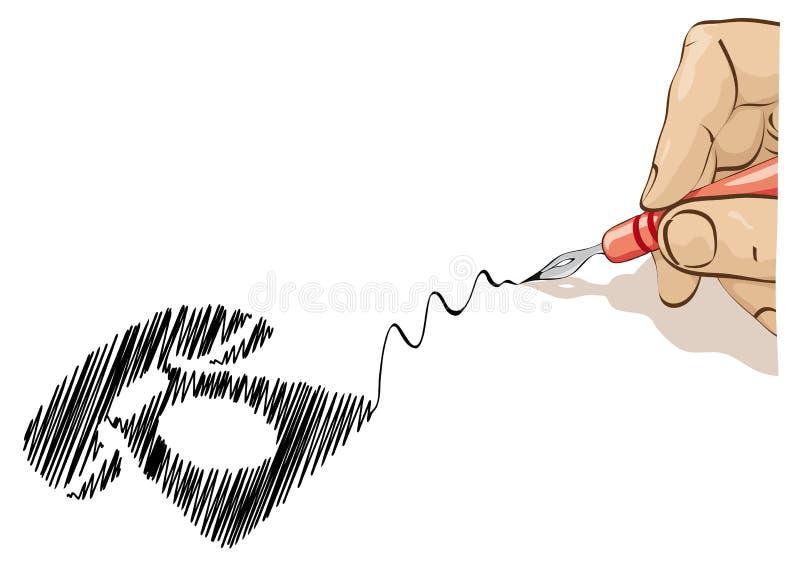 Telefone do projeto ilustração royalty free