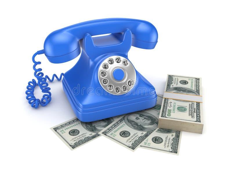 Telefone do vintage ilustração stock