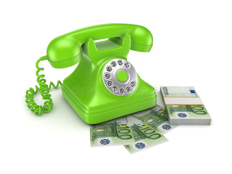 Telefone do vintage ilustração royalty free