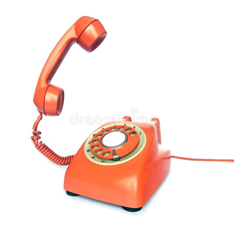 Telefone do vintage do gancho foto de stock royalty free