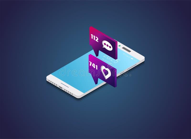 Telefone e como o índice ilustração royalty free