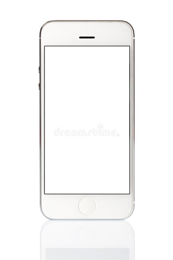 Telefone esperto branco isolado imagens de stock