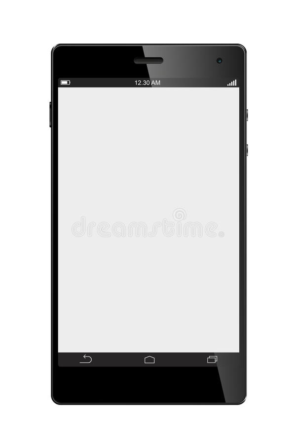 Telefone esperto da tela grande isolado fotos de stock