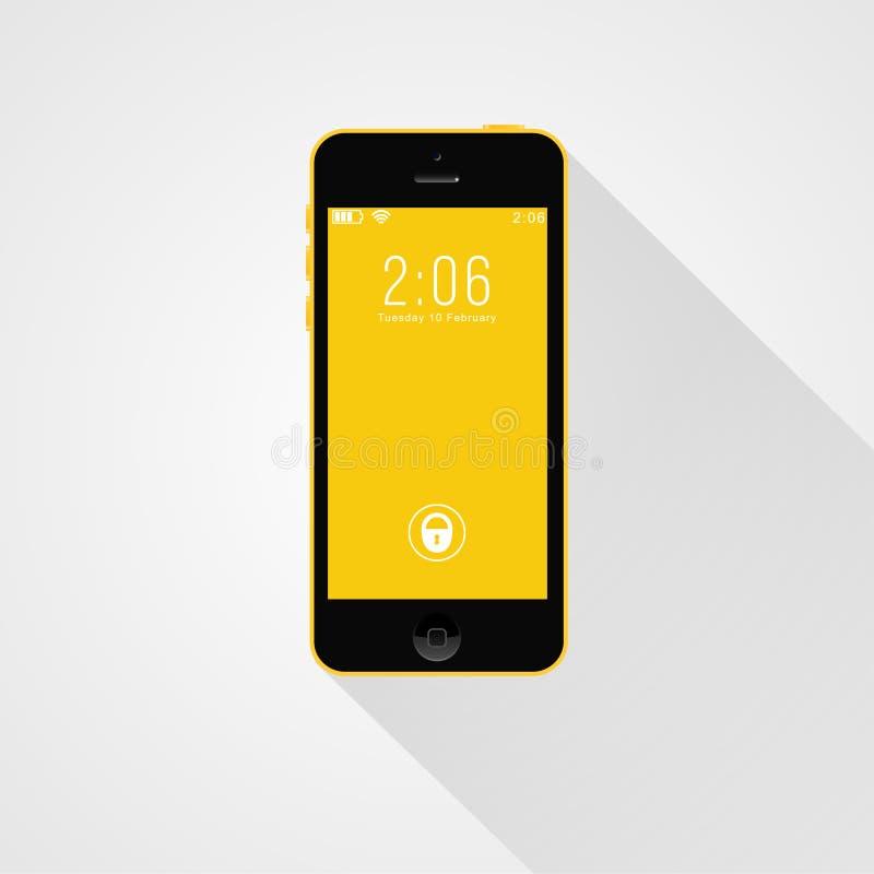 Telefone esperto moderno isolado em um fundo claro ilustração stock