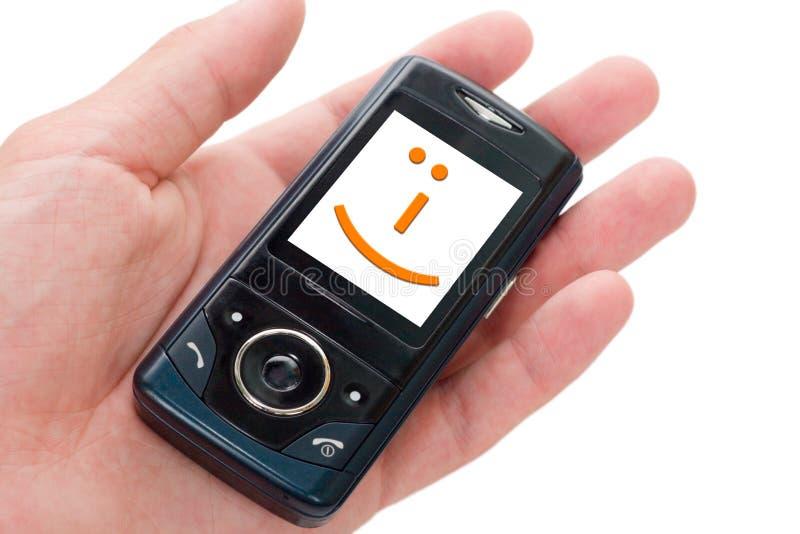 Telefone feliz! foto de stock