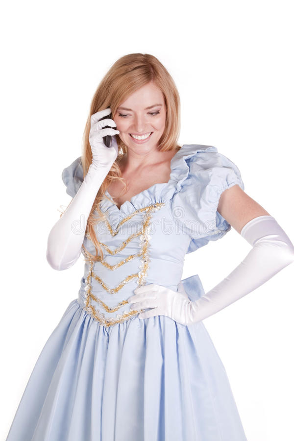 Telefone feliz Cinderella imagem de stock