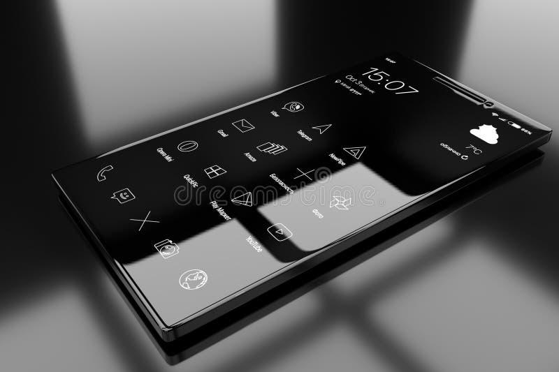 Telefone genérico do androide fotografia de stock royalty free